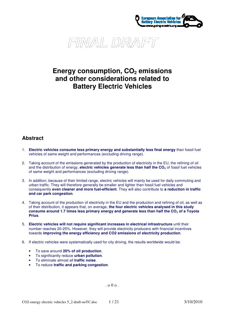 Energy consumption, CO2 emissions                     and other considerations related to                          Battery...