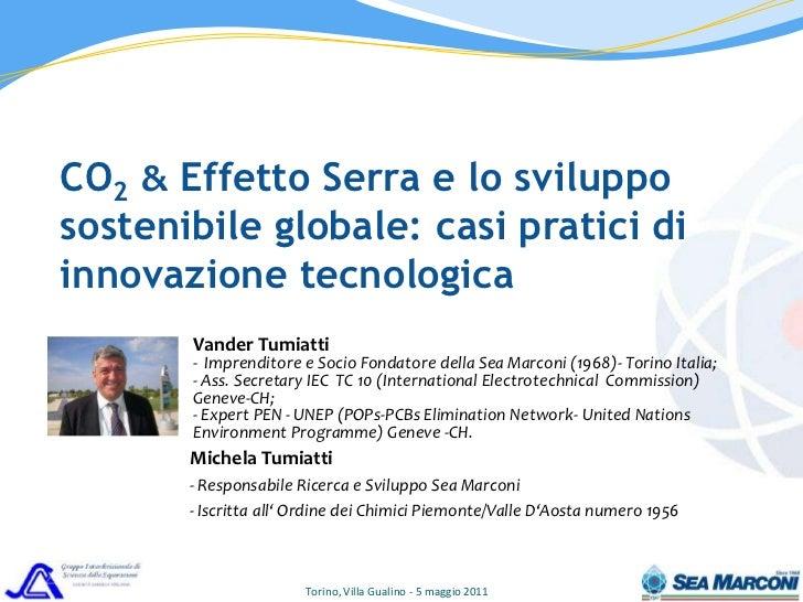 CO2,  Effetto Serra e lo sviluppo sostenibile