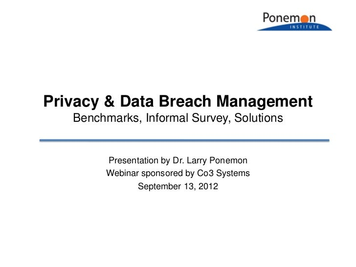 Privacy & Data Breach Management