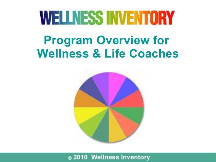 Wellness Inventory Program for Coaches