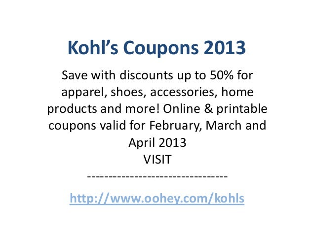 Kohls coupon code march 2019