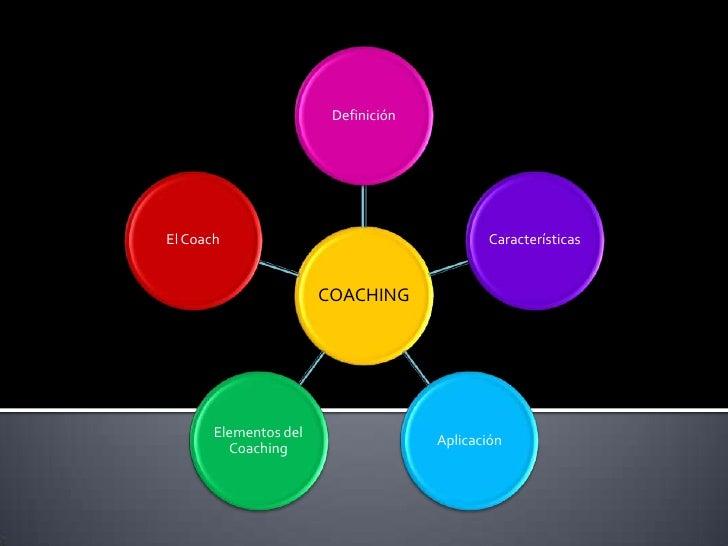 Definición     El Coach                                    Características                          COACHING            El...