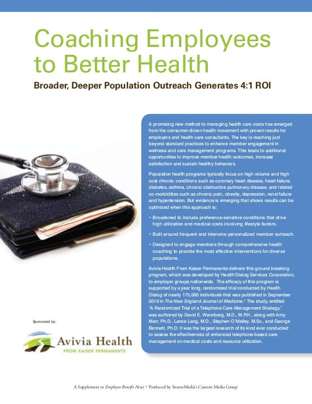 A promising new method to managing health care costs has emerged from the consumer-driven health movement with proven resu...