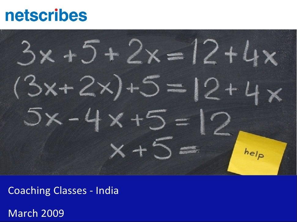 Coaching Classes   India   Sample