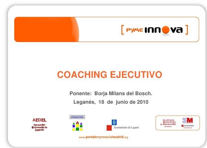 Pyme Innova. Coaching ejecutivo.