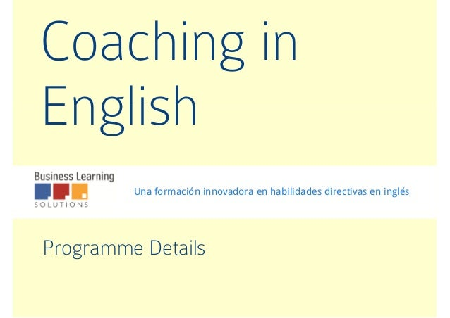 Coaching in English