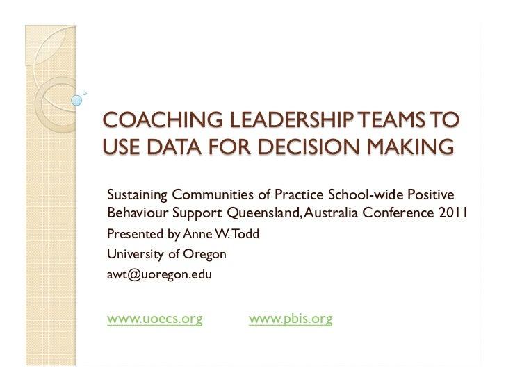 Coaching leadership teams tips
