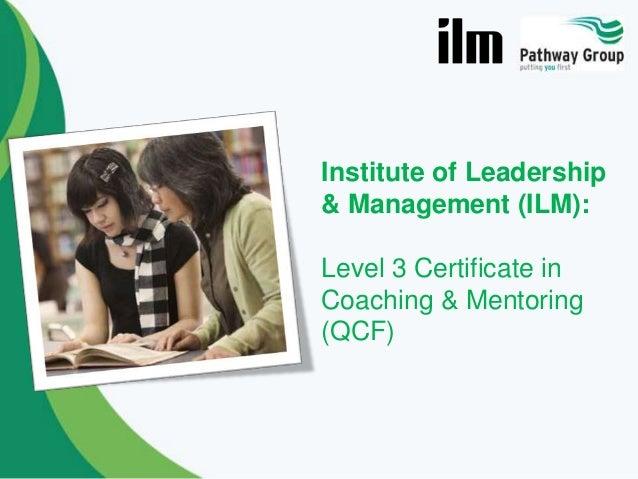 ILM Coaching & Mentoring Level 3 Certificate