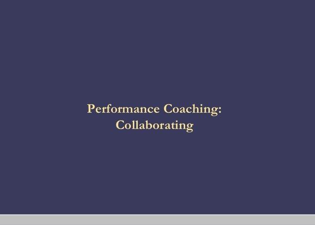 Coaching performance coaching_collaborating