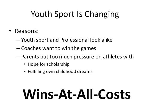 parents put too much pressure on their athletes