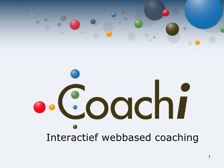 Interactief  webbased coaching