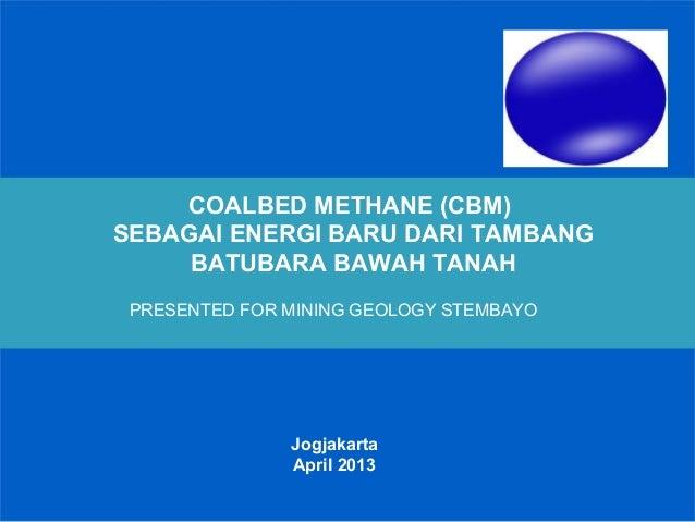 INDONESIA Coalbed methane (cbm)  IN GENERAL