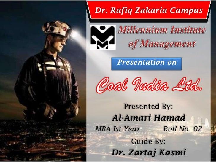 Dr. Rafiq Zakaria Campus     Presentation on       Presented By:    Al-Amari HamadMBA Ist Year     Roll No. 02         Gui...