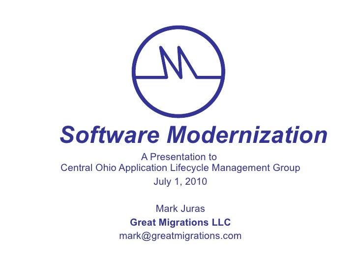Software Modernization
