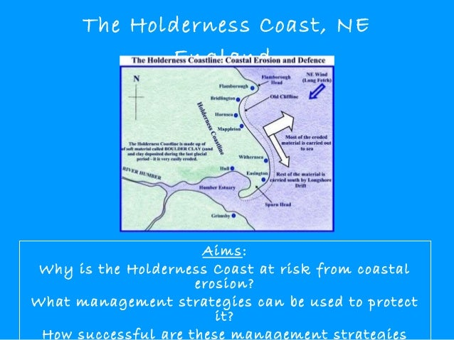The Holderness Coast, NE England  Aims: Why is the Holderness Coast at risk from coastal erosion? What management strategi...