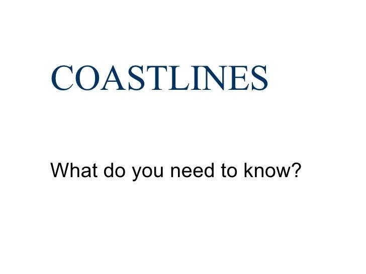 Coastlines Yr 11 Revision Class For Ocr Spec A