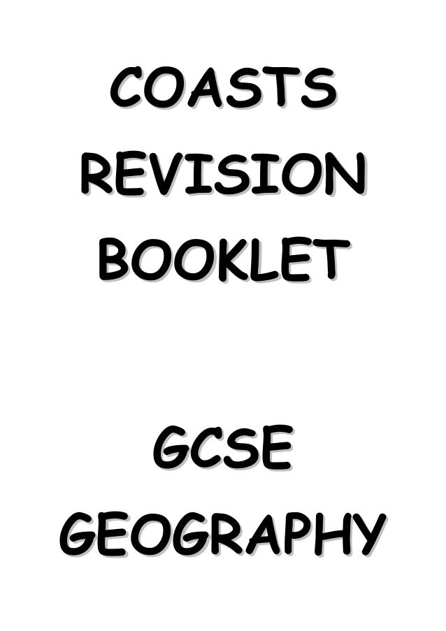 COASTSREVISION BOOKLET  GCSEGEOGRAPHY