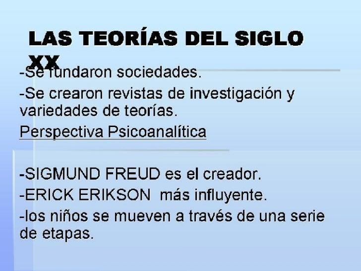 PRINCIPALES TEORIAS DEL  DESARROLLO DEL NIÑO