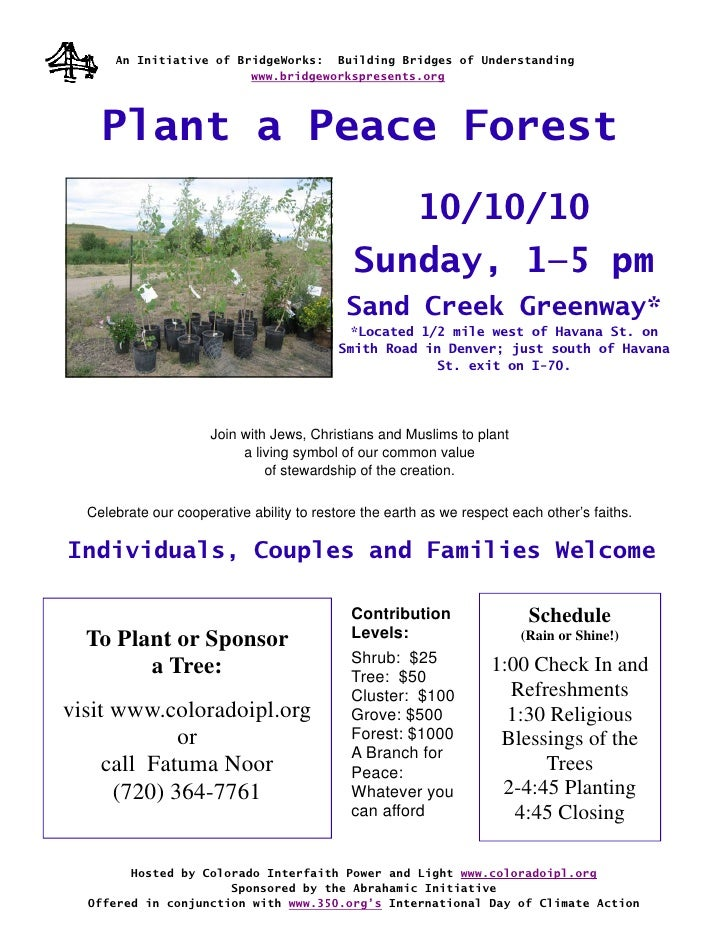 Planting a Living Symbol – a Peace Forest