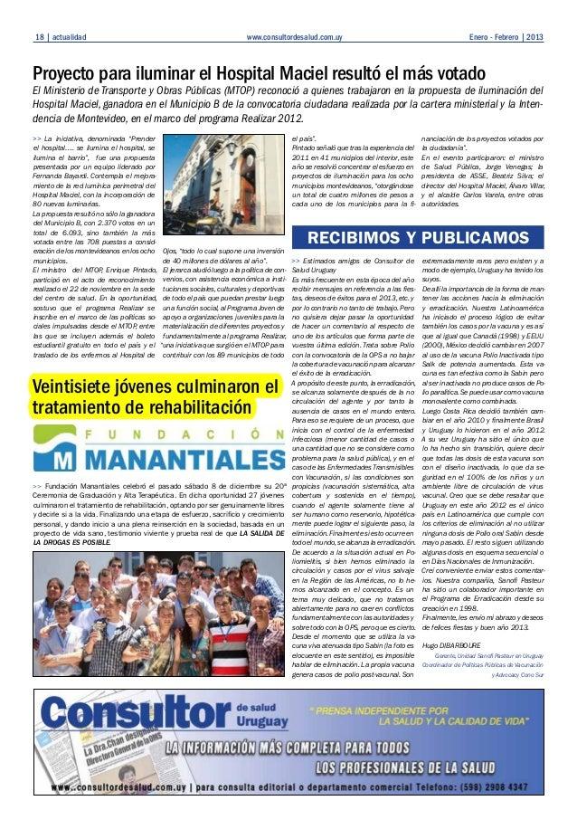 Cobertura graduacion consultor de salud uruguay nro enero 2013