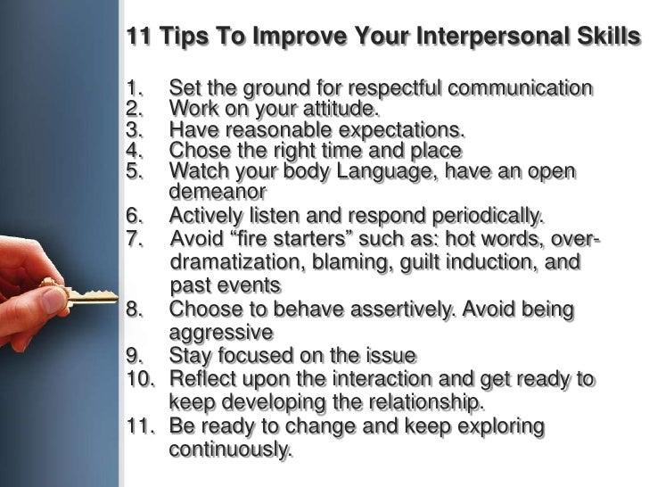 ten ways to improve your interpersonal skills essay
