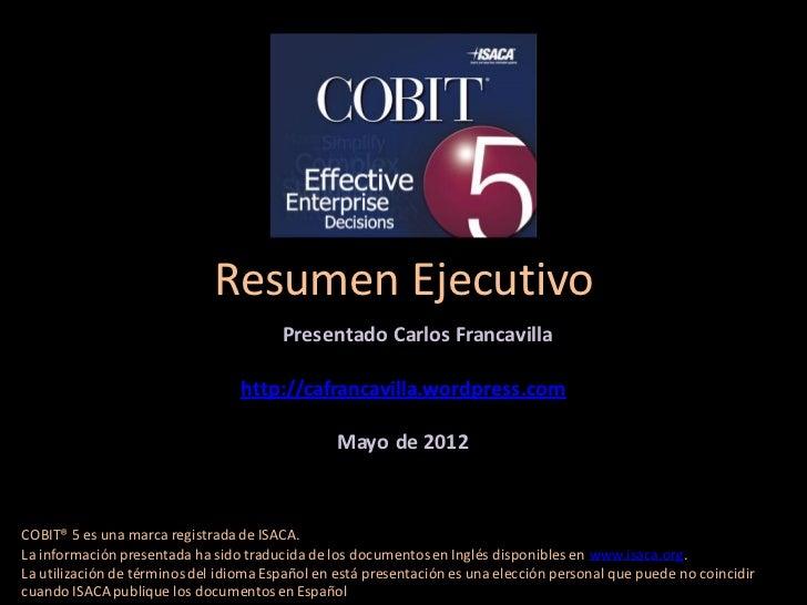 Resumen Ejecutivo                                        Presentado Carlos Francavilla                                  ht...