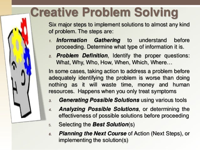 Six Steps Of Problem Solving