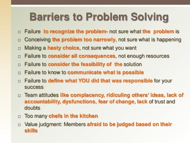 Problem solving and decision making skills examples