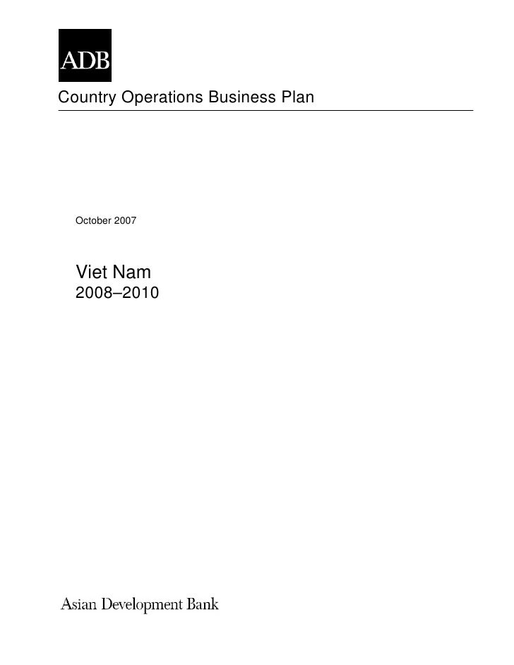 Country Operations Business Plan       October 2007       Viet Nam   2008–2010