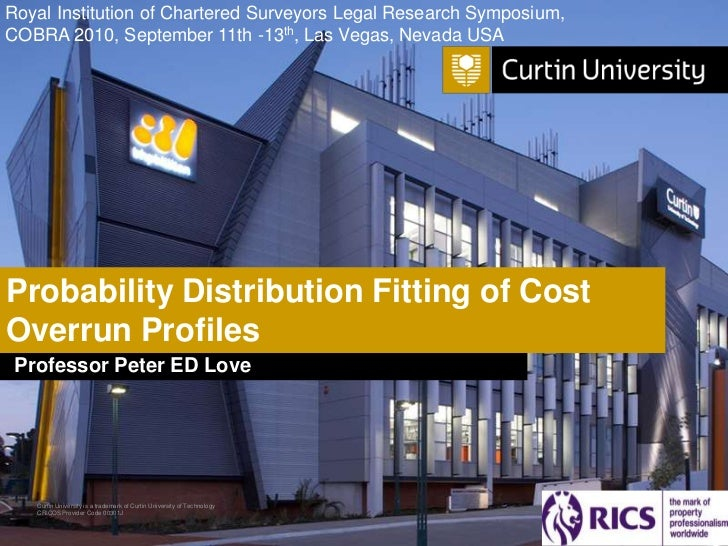 Probability Distribution Fitting of Cost Overrun Profiles
