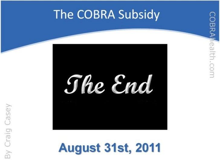 The COBRA Subsidy<br />
