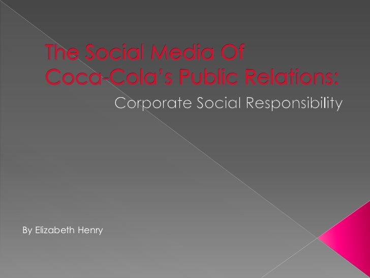 Coca-Cola's social media in public relations