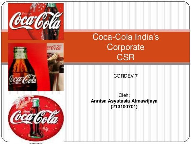Coca cola india's corporate