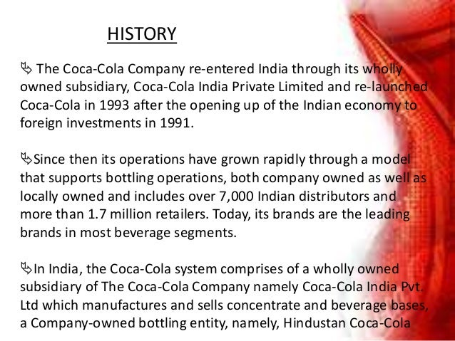 company profile hindustan coca cola beverages private limited Hindustan coca-cola beverages private limited company information, hindustan coca-cola beverages directors/partners details, owner contact information and hindustan coca-cola beverages private limited history.