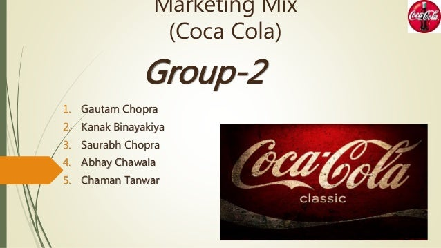 the coca cola marketing mix