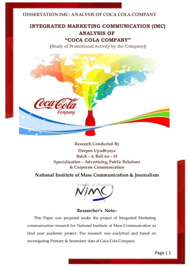 Coca-cola evaluation strategy Essay