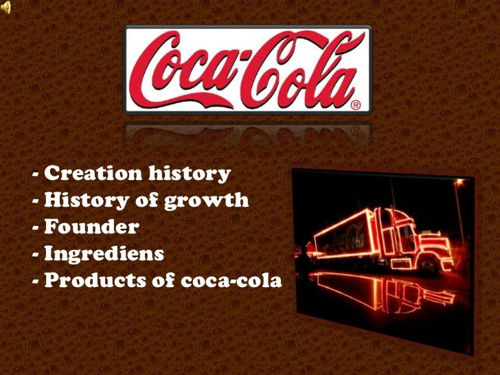 The story of Coca Cola - Creative Science