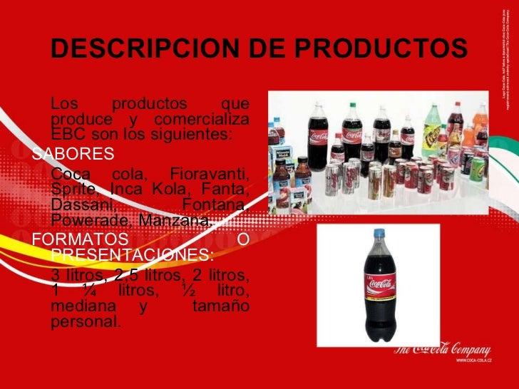 Coca cola - Descripcion del producto ...