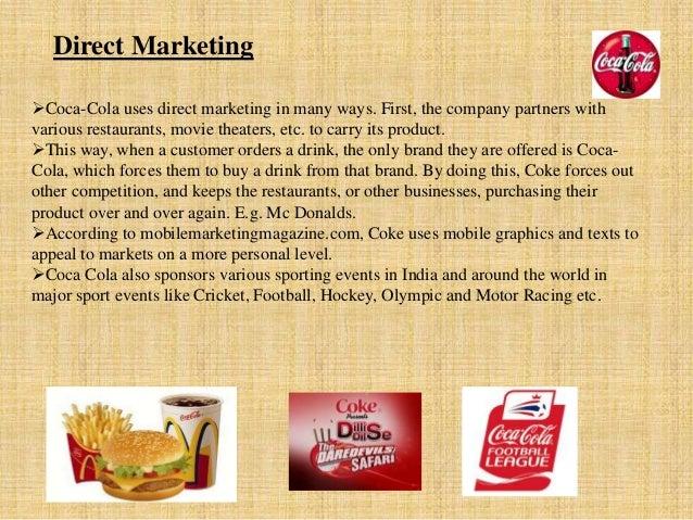 marketing for coca cola Veja grátis o arquivo plano de marketing coca-cola enviado para a disciplina de administração de marketing categoria: trabalhos - 1005061.