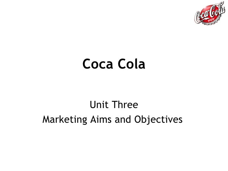 Coca Cola Unit Three Marketing Aims and Objectives