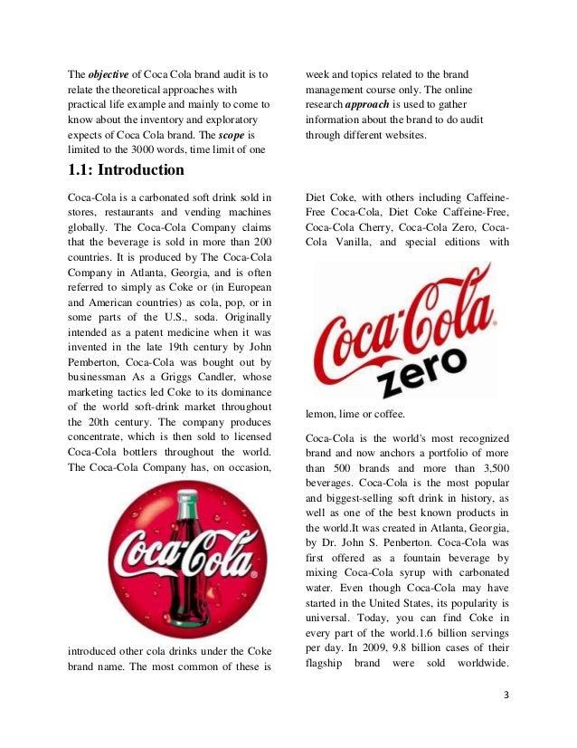 Coca Cola: Brand Audit - Essay Example