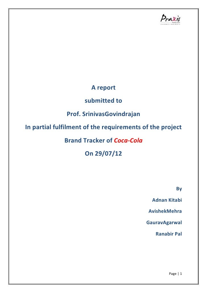 A report                     submitted to              Prof. SrinivasGovindrajanIn partial fulfilment of the requirements ...