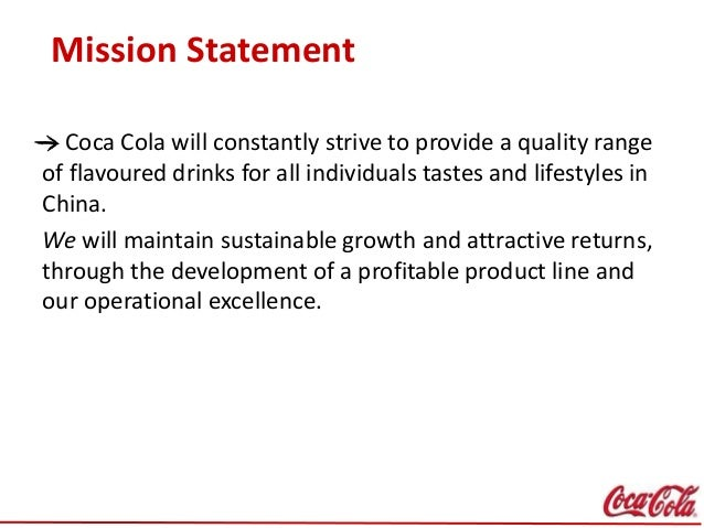 Mission statement coca cola