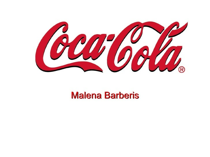 Coca cola malena barberis