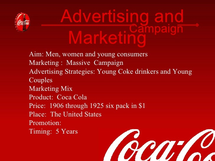 coca cola marketing report The coca-cola company business overview from the company's financial report: the coca-cola company is coca cola swot analysis power and massive marketing.