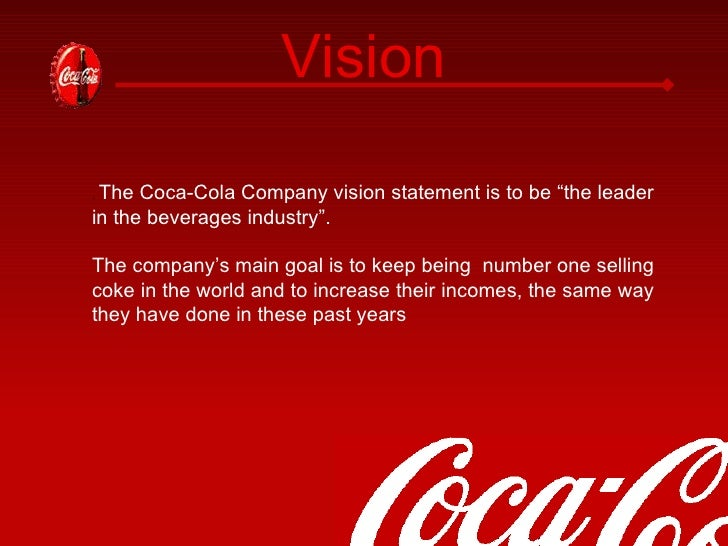 coca cola company mission vision and values That's what coca-cola's 2020 vision is all about it creates a long-term  destination for the company's business and provides coca-cola with a  roadmap for.