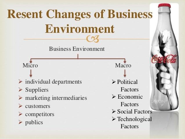 coca cola micro macro factors Six microenvironmental factors that affect businesses  [micro marketing planning] | macro & micro  chroncom/six-microenvironmental-factors-affect.