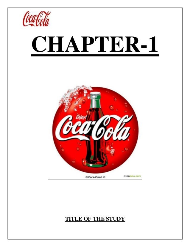 CHAPTER-1 TITLE OF THE STUDY