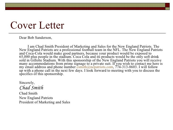 Sponsorship Executive Cover Letter. I 485 Sample Cover Letter The
