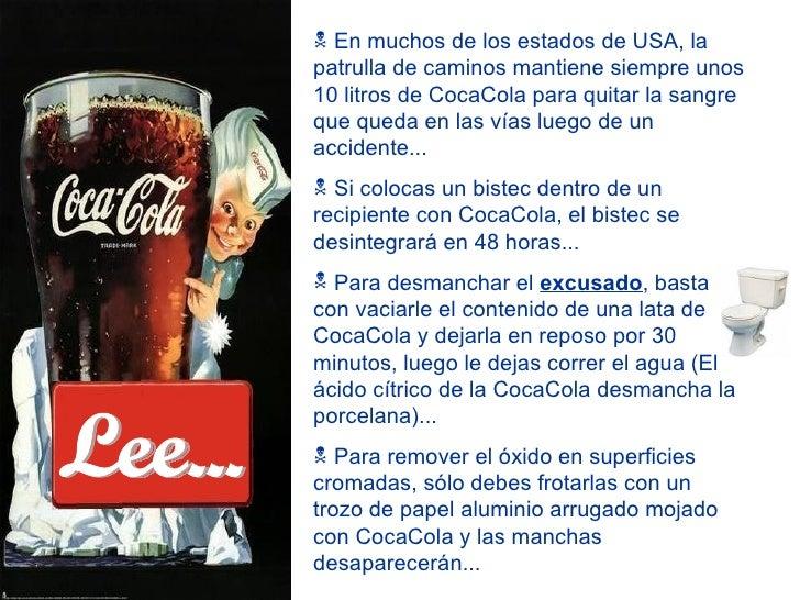 Coca cola vs vino - Quitar oxido coca cola ...
